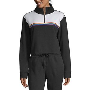 Mock Neck Long Sleeve Sweatshirt - Juniors
